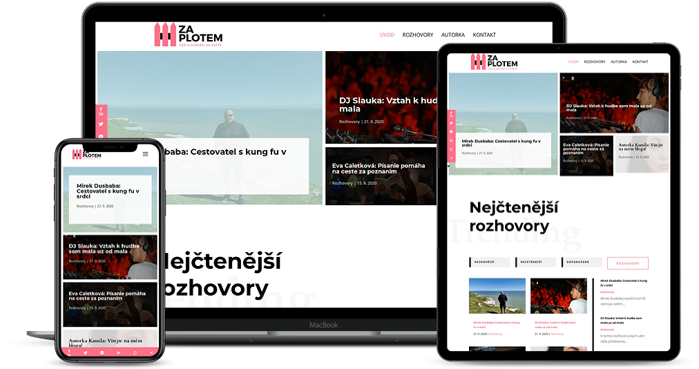 Za plotem Kamila Plachetkova Web Design