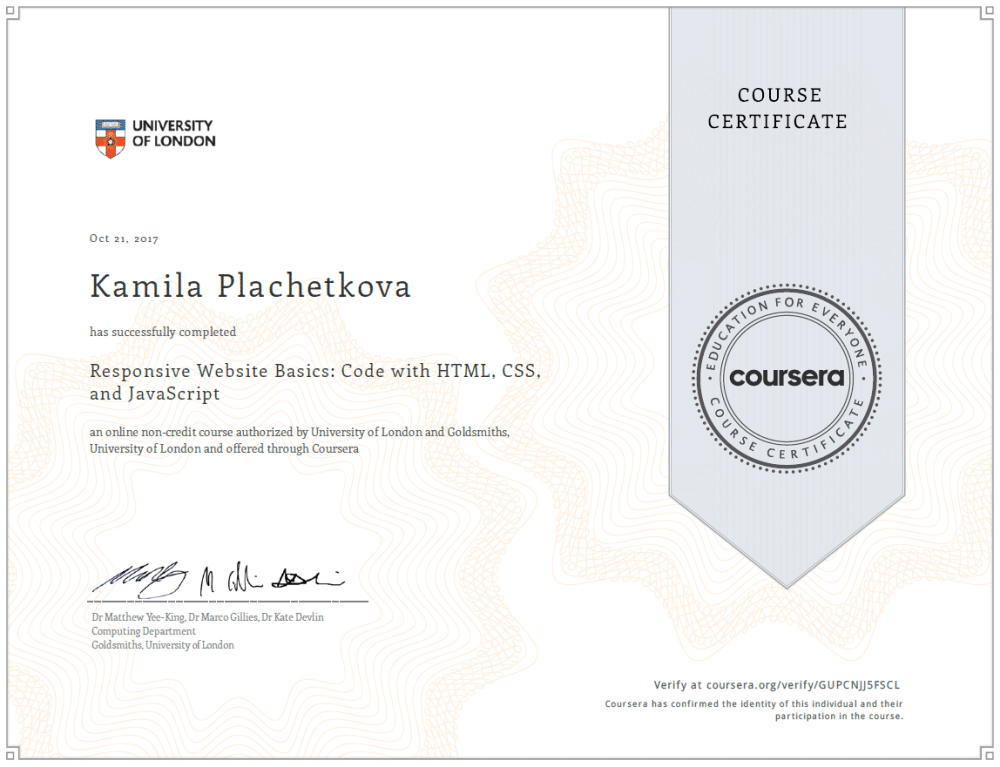 Website Basic Certificate